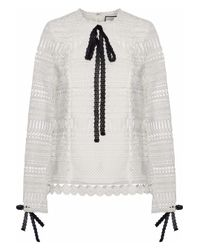 Alexis - White Guipure Lace Top - Lyst