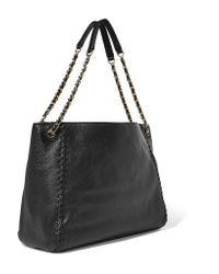 Tory Burch - Black Marion Textured-leather Shoulder Bag - Lyst