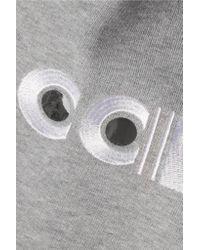 Carven - Gray Appliquéd Cotton Sweatshirt - Lyst