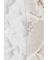 Antonio Berardi - White Lace And Jacquard-paneled Stretch-crepe Dress - Lyst