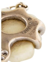 Chanel | Metallic 18k Agate & Diamond Camélia Sculpté Bracelet White | Lyst