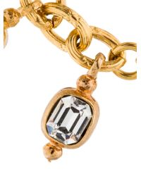 Chanel | Metallic Crystal Charm Bracelet Gold | Lyst