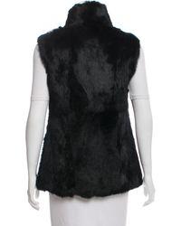 MICHAEL Michael Kors - Natural Michael Kors Structured Fur Vest Black - Lyst
