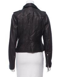 Michael Kors - Black Leather Biker Jacket - Lyst