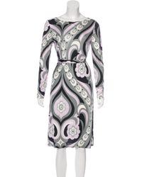Emilio Pucci - Printed Silk Dress Multicolor - Lyst