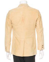 Louis Vuitton - Metallic Suede Sport Coat Yellow for Men - Lyst