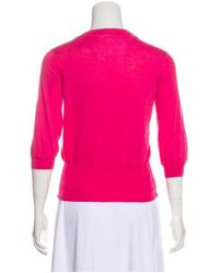 Piazza Sempione - Pink Knit Button-up Cardigan - Lyst