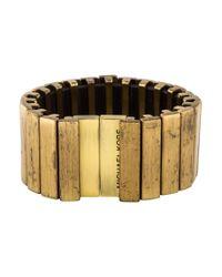 Michael Kors - Metallic Wide Link Bracelet Bronze - Lyst