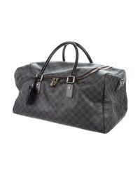Louis Vuitton - Metallic Damier Graphite Roadster Duffle Bag Black for Men - Lyst
