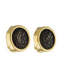 BVLGARI - Metallic 18k Monete Coin Clip-on Earrings Yellow - Lyst