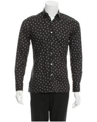 Lanvin - Black Spider Print Button-up Shirt W/ Tags for Men - Lyst