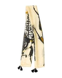 Figue - Yellow Silk Printed Scarf - Lyst