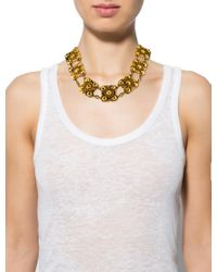 Chanel - Metallic Square Link Necklace Gold - Lyst