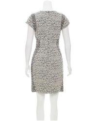 Diane von Furstenberg - Black Pele Snake-wave Jacquard Dress - Lyst