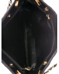 Chanel - Metallic Vintage Lambskin Cc Tote Black - Lyst