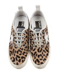 Golden Goose Deluxe Brand - Metallic California Low-top Sneakers Tan - Lyst