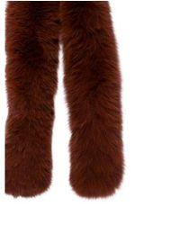 Loeffler Randall - Brown Fox Fur Stole - Lyst