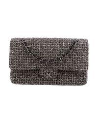 Chanel - Metallic Tweed Classic Medium Double Flap Bag - Lyst