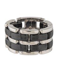 Chanel - Metallic Ultra Ring White - Lyst