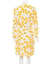 Akris - Yellow Structured Long Blazer - Lyst