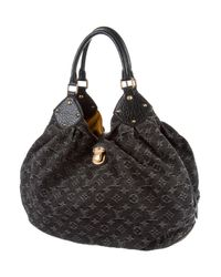 Louis Vuitton - Metallic Denim Mahina Xl Black - Lyst