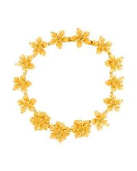 Kenneth Jay Lane - Metallic Dogwood Flower Necklace Gold - Lyst