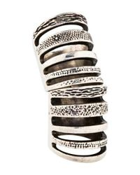 Pamela Love - Metallic Double Cage Ring Silver - Lyst