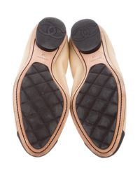 Chanel - Natural Cc Stretch Spirit Flats Tan - Lyst
