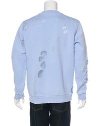 Givenchy - Blue 2018 Destroyed Logo Sweatshirt W/ Tags for Men - Lyst