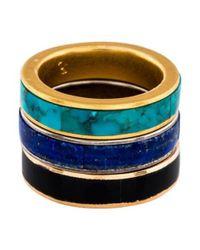 Pamela Love - Metallic Inlay Stack Ring Set Of 3 Gold - Lyst