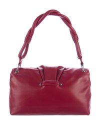Dior - Metallic Leather Shoulder Bag Red - Lyst