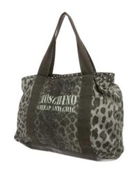 Boutique Moschino - Metallic Animal Print Tote Gold - Lyst