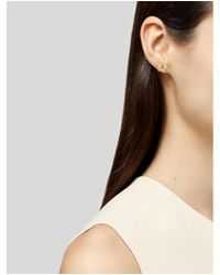 Tiffany & Co - Metallic 18k Diamond Starfish Stud Earrings Yellow - Lyst