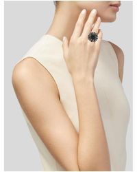 M.c.l  Matthew Campbell Laurenza - Metallic Smoky Quartz, Tourmaline & Enamel Cocktail Ring Silver - Lyst