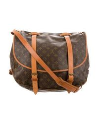Louis Vuitton - Natural Monogram Saumur 40 Brown - Lyst