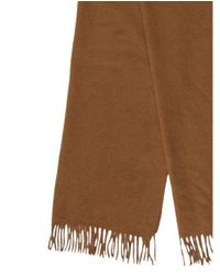 Loro Piana - Brown Cashmere Fringe-trimmed Scarf - Lyst