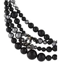 Chanel - Metallic Faux Pearl & Resin Knot Necklace Silver - Lyst