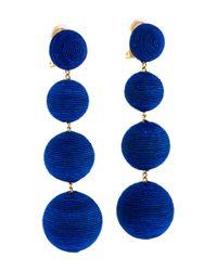 Rebecca de Ravenel - Metallic Classic Four Drop Clip-on Earrings Gold - Lyst
