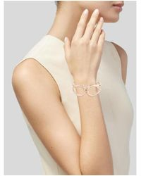 Alexis Bittar - Metallic Miss Havisham Liquid Crystal Hinged Bracelet Rose - Lyst