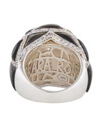 Kara Ross - Metallic Large Maze Byzantine Ring Silver - Lyst