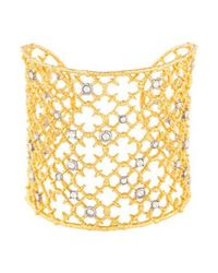 Alexis Bittar - Metallic Elements Crystal Studded Wire Lace Spur Cuff Gold - Lyst