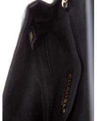 Chanel - Metallic Embellished Satin Clutch Black - Lyst