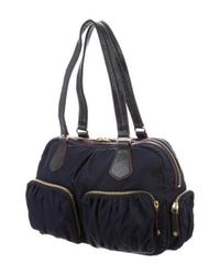 MZ Wallace - Metallic Bedford Jane Shoulder Bag Navy - Lyst