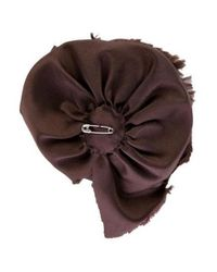 CH by Carolina Herrera - Brown Satin Flower Broach - Lyst
