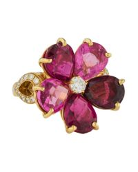 BVLGARI - Metallic 18k Tourmaline & Diamond Diva's Dream Ring Yellow - Lyst