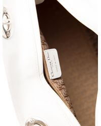 Dior - Metallic Medium Lady Bag White - Lyst