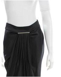 Jason Wu - Metallic Draped Satin Skirt W/ Tags Black - Lyst