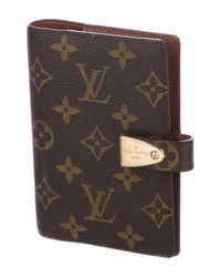 Louis Vuitton - Natural Partenaire Agenda Cover Pm Brown - Lyst
