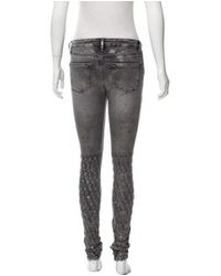 Brockenbow - Metallic Mid-rise Jaretelle Vegas Jeans W/ Tags Grey - Lyst