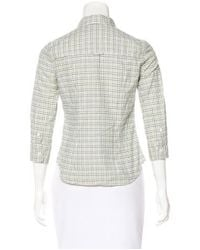 Boy by Band of Outsiders - White Plaid Button-up Top - Lyst